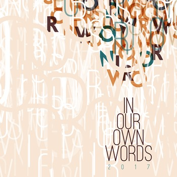 In Our Own Words 2017 Yearbook Cover Design
