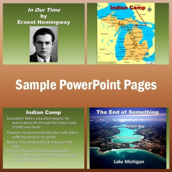 """""""In Our Time"""" Notes on Ernest Hemingway's Book of Short Stories (PowerPoint)"""