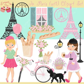 In Paris Clipart Set