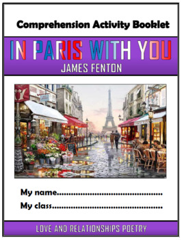 In Paris With You Comprehension Activities Booklet!