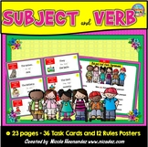 Subject Verb Agreement - In Perfect Harmony {36 SVA Cards}