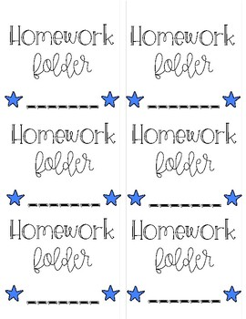 In-Progress Work & HW Folder Labels
