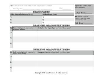 Week In Review-Self Evaluation Packet