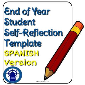 SPANISH End of the Year Student Reflection Template--Secondary Level