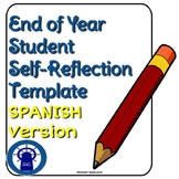 IN SPANISH End of the Year Student Reflection Template--Se