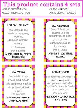 In SPANISH / Partes de la Oración {Spring Themed Bundle}