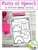 Spanish Parts of Speech Spring Themed Activities