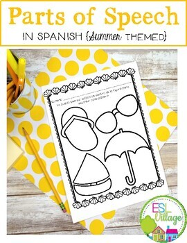 In SPANISH / Partes de la Oración {Summer Themed Bundle}