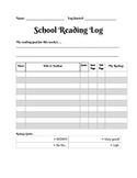 In-School Reading Log