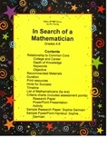Math - In Search of a Mathematician: a cross-curricular in