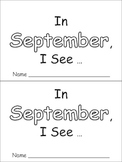 In September Emergent Reader Preschool Kindergarten Months of the Year