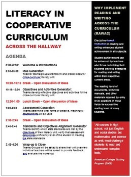 In-Service Workshop: Literacy in Cooperative Curriculum Across the Hallway