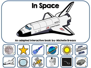 In Space Adapted Interactive Book {Autism, Early Childhood, Special Education}