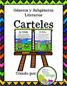 In Spanish Literature Posters {Carteles de Géneros y Subgé