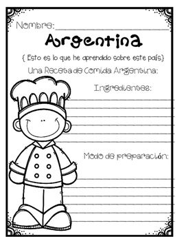 In Spanish  Spanish Speaking Countries: Argentina {Research Project