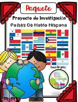 In Spanish | Spanish Speaking Countries: BUNDLE {Research Project}