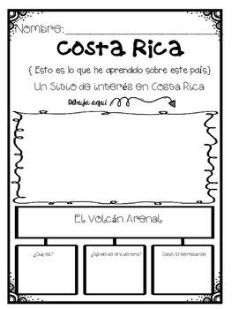 In Spanish  Spanish Speaking Countries: Costa Rica {Research Project}