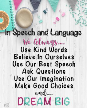 In Speech and Language, We Always...Poster {FREEBIE}