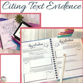 MLA 8th Edition In-Text Citation Bundle- Citing Textual Evidence Unit!