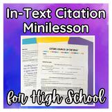 In Text Citation Mini Lesson MLA 8