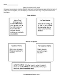 In-Text Citation Worksheet