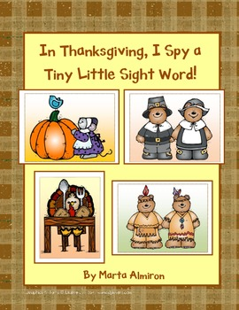 In Thanksgiving, I Spy Tiny, Little Sight Words!