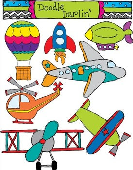 In The Air Transportation Clipart