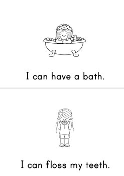 In The Bathroom Easy Reader Patterned Sentences For Beginning Readers
