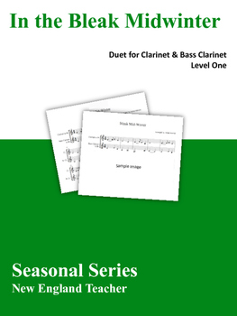 In The Bleak Midwinter Duet for Clarinet and Bass Clarinet (Level 1)