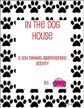 In The Doghouse Abbreviations activity