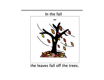 In The Fall-Adaptive Book-Autism/Early Language Learners