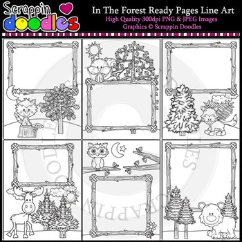 In The Forest 8 1/2 x 11 Ready Pages