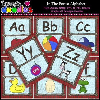 In The Forest Alphabet Letter Posters