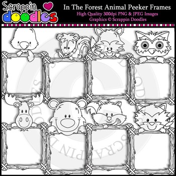 In The Forest Animal Peeker Frames