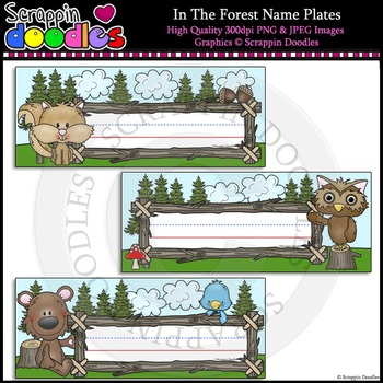 In The Forest Editable Name Plates