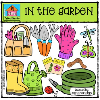 In The Garden {P4 Clips Trioriginals Digital Clip Art}