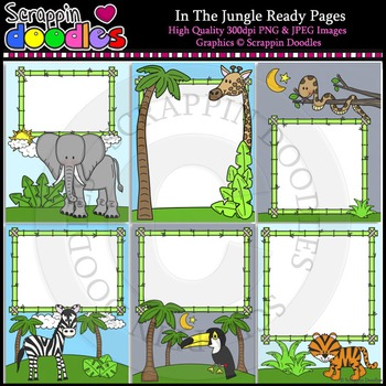 In The Jungle 8 1/2 x 11 Ready Pages