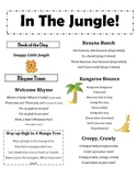 In The Jungle- Infant and Toddler Lapsit Rhymes & Songs FREEBIE!