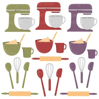In The Kitchen Baking Clipart & Vectors in Autumn - Baking Clip Art