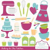In The Kitchen Baking Clipart & Vectors in Bohemian - Baking Clip Art