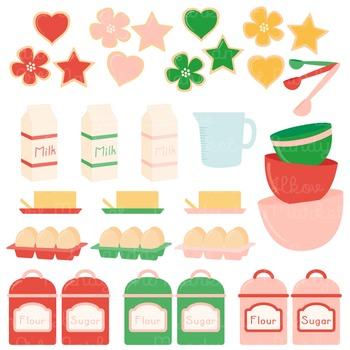 In The Kitchen Baking Clipart & Vectors in Cherry Bomb - Baking Clip Art