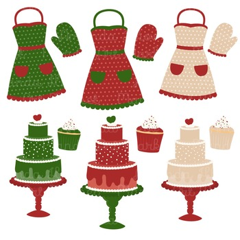 In The Kitchen Baking Clipart & Vectors in Christmas - Baking Clip Art