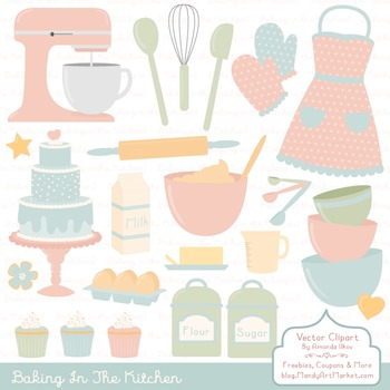 In The Kitchen Baking Clipart & Vectors in Grandmas Garden