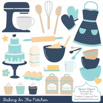 In The Kitchen Baking Clipart & Vectors in Oceana - Baking Clip Art