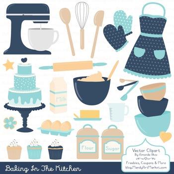 In The Kitchen Baking Clipart & Vectors in Oceana - Baking Clip Art