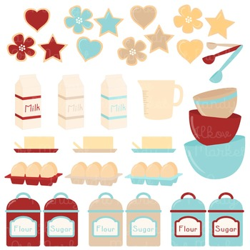 In The Kitchen Baking Clipart & Vectors in Red Robin - Baking Clip Art