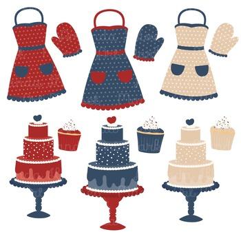 In The Kitchen Baking Clipart & Vectors in Americana - Baking Clip Art