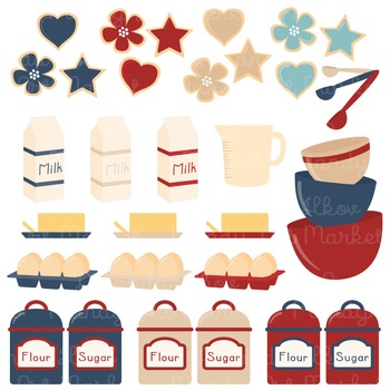 In The Kitchen Baking Clipart & Vectors in Americana - Baking Clip Art