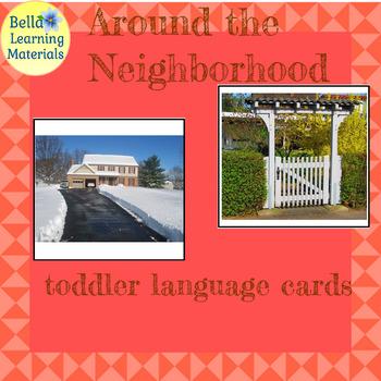 Montessori Classified Cards - Around The Neighborhood