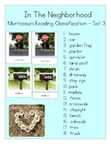 In The Neighborhood - Montessori Reading Classification Ca